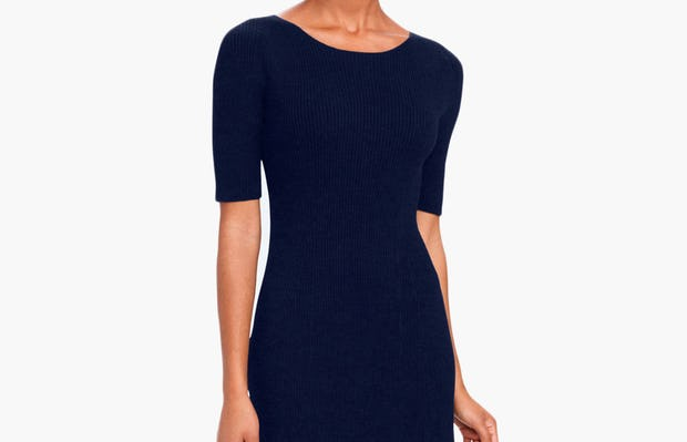 Women's 3D Print-Knit Dress - Navy - Image 2
