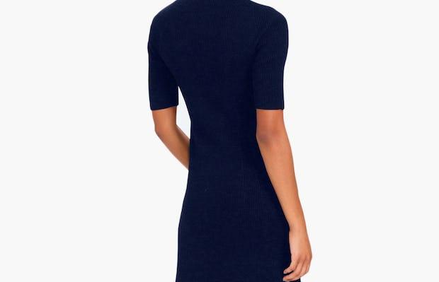 Women's 3D Print-Knit Dress - Navy - Image 5
