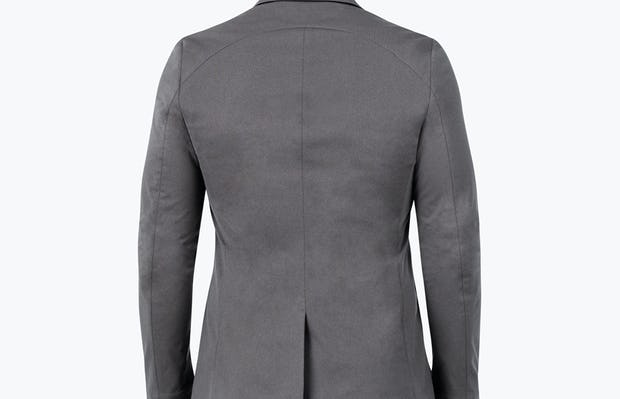 Men's Charcoal Heather Kinetic Blazer - model facing away from camera
