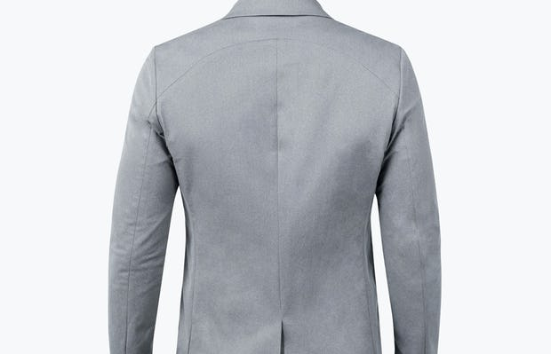 Men's Grey Heather Kinetic Blazer -model facing away from camera