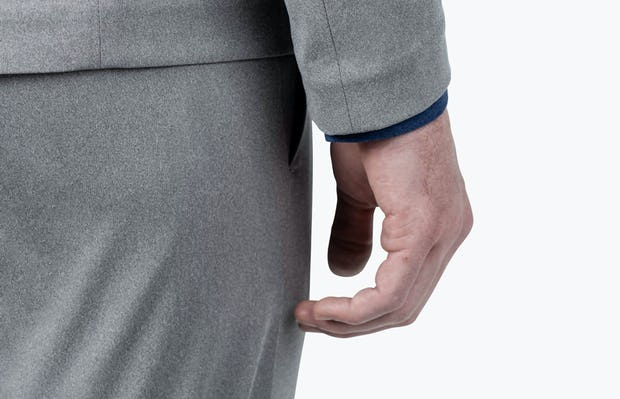 Men's Grey Heather Kinetic Blazer - close shot of sleeve and cuff