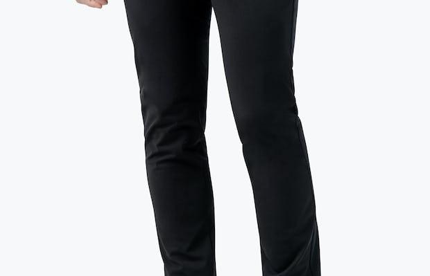 Men's Black Kinetic Pants on model with left hand in pocket
