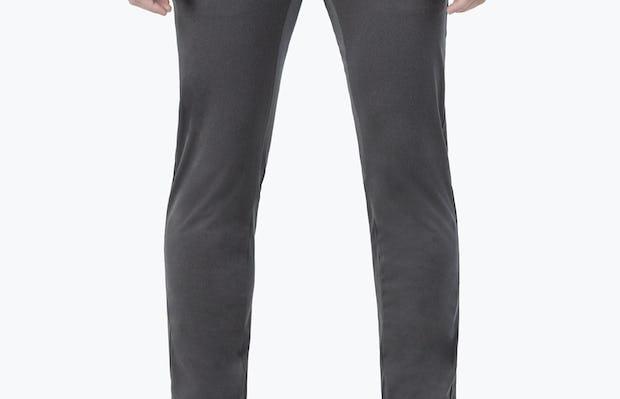 Men's Charcoal Kinetic Pants on model facing forward