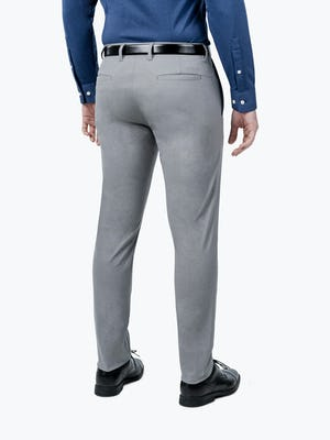 Men's Grey Kinetic Pants on model facing back and to the right