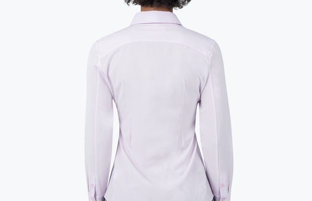 Women's Pale Pink Juno Recycled Tailored Shirt on Model Facing Backwards