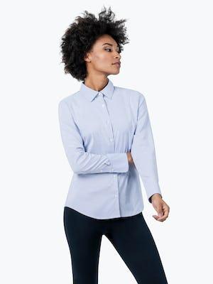 Women's Aero Dress Shirt - Blue Stripe - Image 4