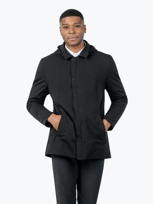 Men's Kinetic Town Coat - Model with hands in pockets