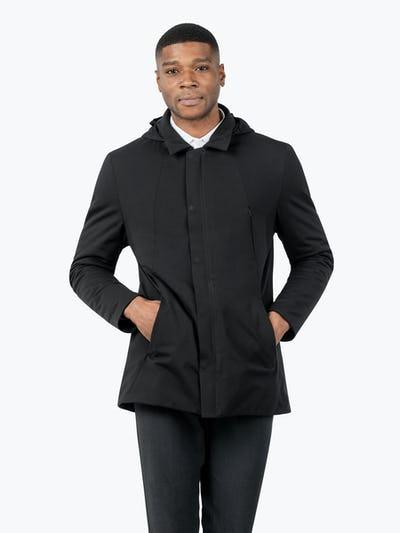 Men's Kinetic Town Coat - Model facing forward with hands in pockets