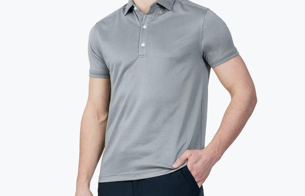 Apollo Polo Grey Heather - Image 3