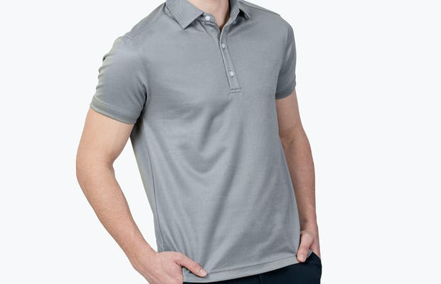 Apollo Polo Grey Heather - Image 1