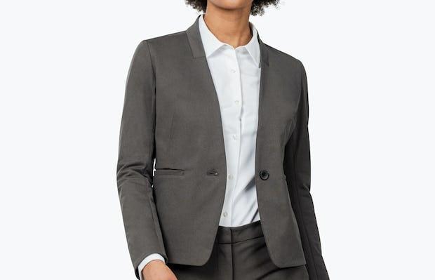 Women's Kinetic Blazer Charcoal Heather - Image 1