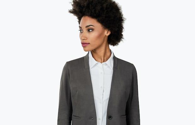 Women's Kinetic Blazer Charcoal Heather - Image 3