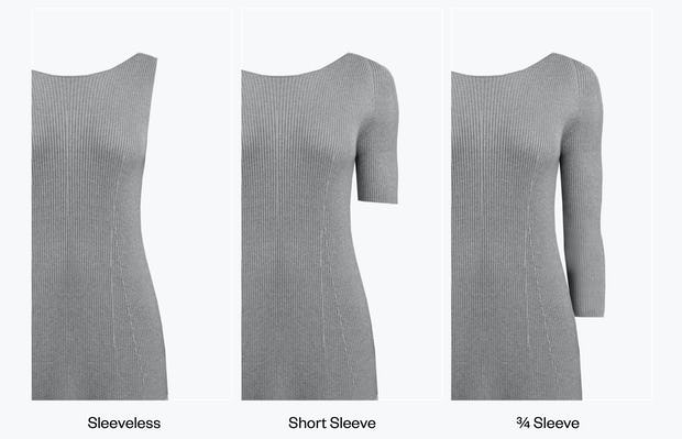 Women's 3D Print-Knit Dress - Dress Sleeve Length Options Image
