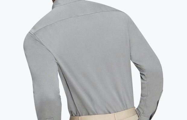 Men's Medium Grey Future Forward Dress Shirt on Model Facing Backward