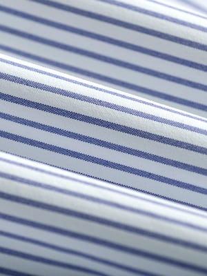 Men's Blue Stripe Aero Zero Dress Shirt fabric roll