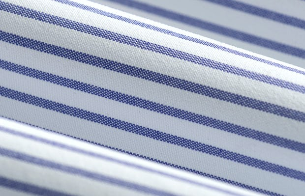 Men's Blue Stripe Aero Zero Dress Shirt fabric roll