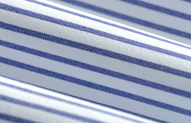 Men's Navy Stripe Aero Zero Dress Shirt fabric roll