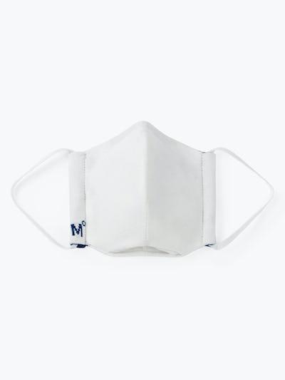 White with Dark Navy Trim 3D Print-Knit Mask°