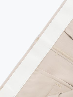 Men's Light Khaki Momentum Chino Shorts in Close-Up of Inside of Stretch Waistband