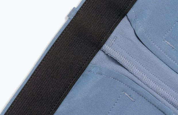 Women's Storm Blue Momentum Chino in Close-Up of Elastic Waistband