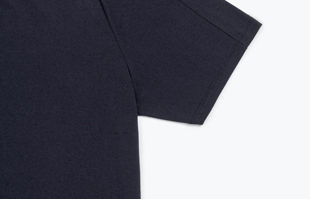 Men's Navy Composite Merino Active Tee view of Sleeve