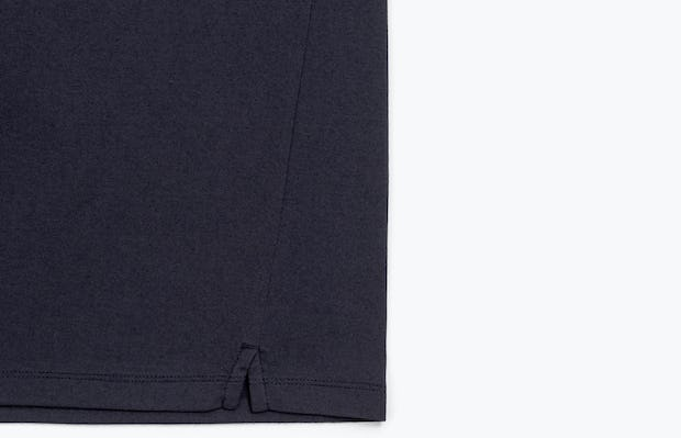 Men's Navy Composite Merino Active Tee view of Bottom Hem