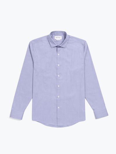 men's lavender end on end aero dress shirt flat shot of front