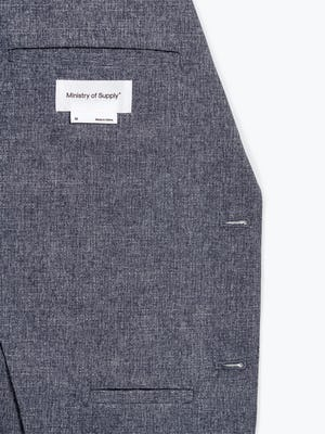 Men's Dot Air Kinetic Blazer Interior View in Close-Up of Chest Pocket
