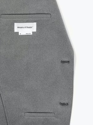 Men's Slate Grey Kinetic Blazer in Close-up of Inside Chest Pocket