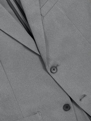 Men's Slate Grey Kinetic Blazer in Close-up of Front Buttons
