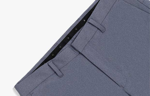 Close up of Men's Indigo Heather Kinetic Pants Front