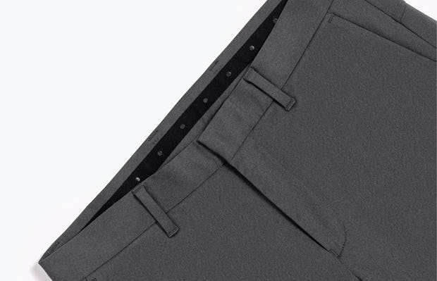 Close-Up of Men's Charcoal Heather Kinetic Pants Front