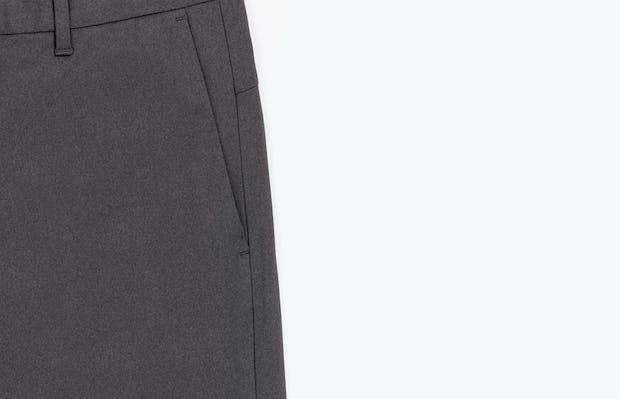 Close-Up of Men's Charcoal Heather Kinetic Pants Side Pocket