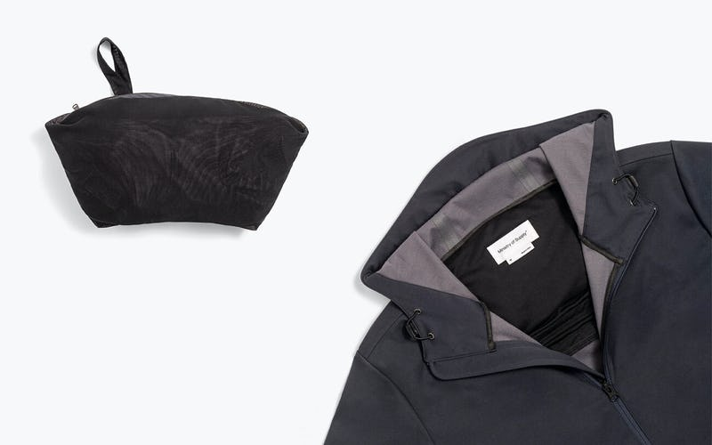 Men's Doppler Packable Jacket Packed and Front View Side by Side