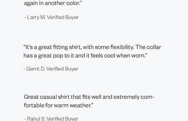 Reviews of the Men's Hybrid Seersucker Short Sleeve