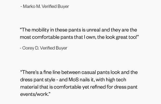 Reviews of the Men's Velocity Dress Pant