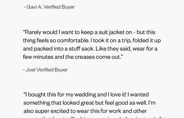 Reviews of the Men's Velocity Suit Jacket