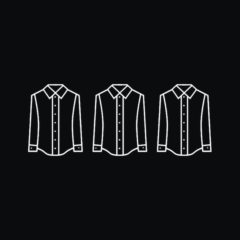 Illustration of dress shirts