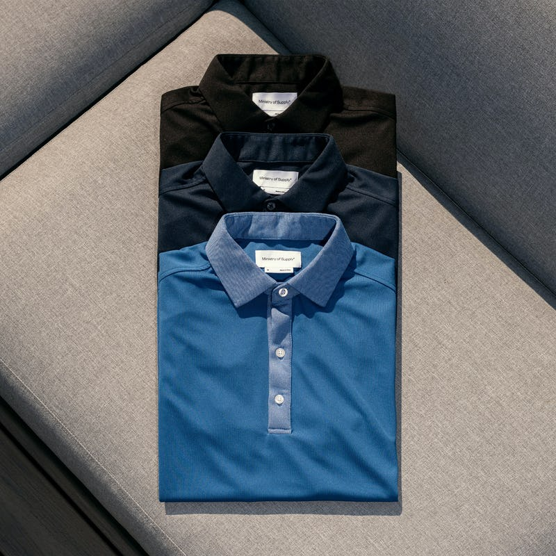 Men's Apollo Polos folded