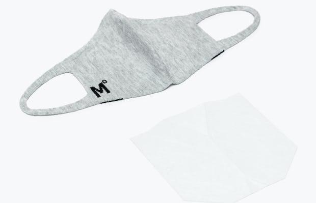 Light Grey 3D Print-Knit Mask 2.0 Next to Mask Filter