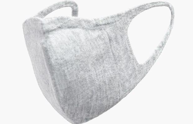 Light Grey 3D Print-Knit Mask 2.0 Left Side View