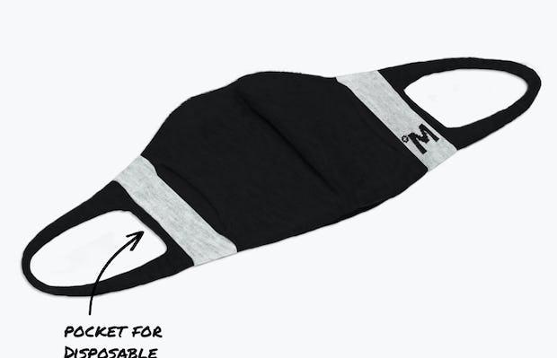 3d print-knit mask 2.0 black off model showing filter pocket