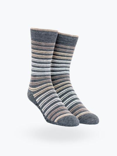Tan Double Stripe Atlas Socks