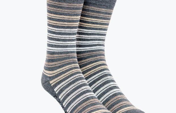 Tan Double Stripe Atlas Socks
