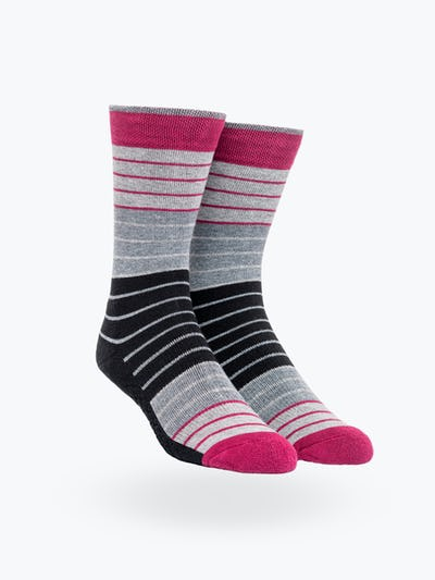 Black Ankle Stripes Atlas Dress Socks