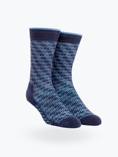 Blue Static Atlas Dress Sock