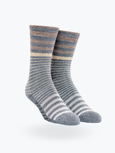 Tan Stripe Gradient Atlas Dress Sock