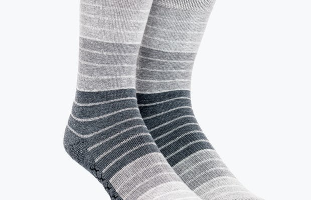 Grey Stripe Gradient Atlas Dress Sock