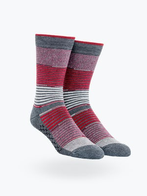 Red Striped Gradient Atlas Dress Sock