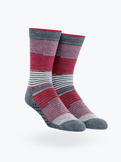 Red Striped Gradient Atlas Dress Sock